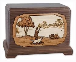 dog cremation and dog urn with 3d inlay wood cremation solutions