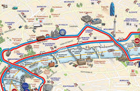 touristic map of touristic map of major tourist attractions maps