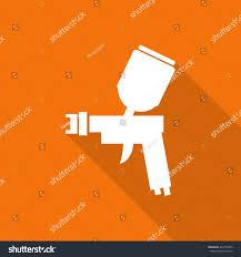 Painting Icon Spray Gun Painting Tool Flat Icon Stock Vector 287762453