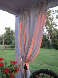 Outdoor Canvas Curtains How To Make Drop Cloth Curtains For The Porch Or Patio Drop