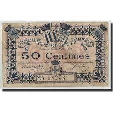 chambre de commerce malo 314148 rennes et malo 50 centimes 1915 vg 8 10 ebay