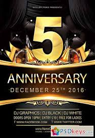 anniversary flyer temptation lounge free flyer template download