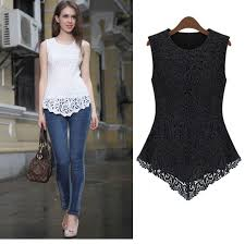 s fitted blouses s xl summer fashion womens crochet lace floral peplums