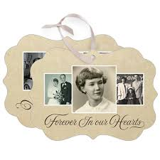 in memoriam rectangle metal personalized ornaments