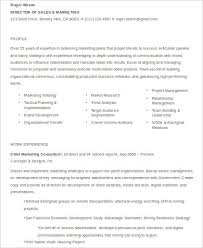 Examples Of Marketing Resumes by Sample Sales And Marketing Resume 7 Examples In Word Pdf