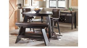 noah chocolate 4 pc bar height dining room w benches casual