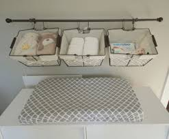 chagne baskets changing tables storage baskets for changing table baby change