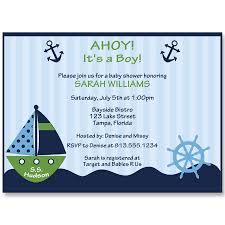 ahoy it s a boy ship wheel green baby shower invitation the