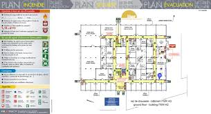 plan des bureaux plan d évacuation plan d intervention protect marseille le