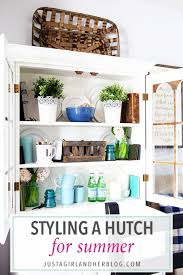 The Styling Hutch Summer Hutch Decor And Styled X3 Just A And Her Blog