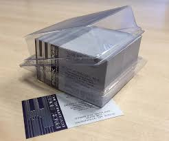 Clear Business Cards Clear Business Card Boxes U2013 By Pack Edge Development Inc