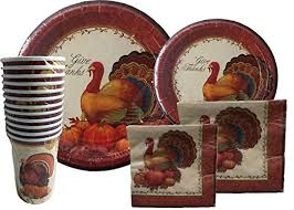 thanksgiving disposable dinnerware set for your