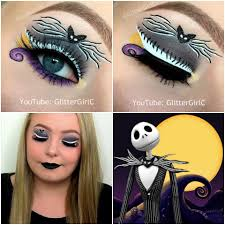 halloween jack skellington makeup look glittergirlc