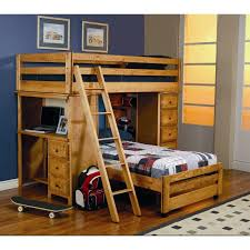 Loft Bed With Desk On Top Bedroom Bunk Beds With Desk Twin Over Twin Bunk Bed With Trundle