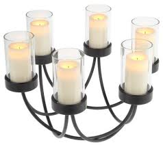 Flameless Candle Sconces With Timer Candle Impressions Centerpiece W 6 Flameless Votives U0026 Timer