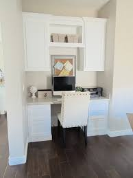 Kitchen Desk Cabinets Real Office Littlehousebigplans