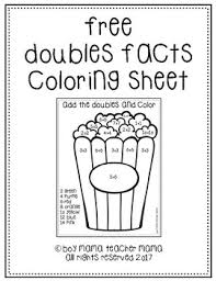 practice adding doubles facts with this free popcorn themed