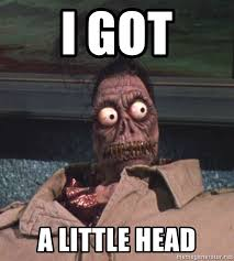 Beetlejuice Meme - i got a little head beetlejuice head meme generator