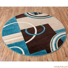 Geometric Area Rug by Create Blue And Brown Area Rugs In Home