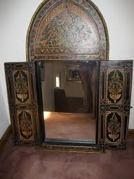 moroccan hand painted wooden window frame mirror superior downsizing