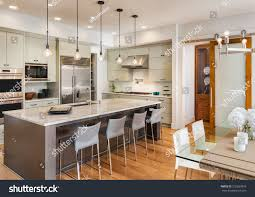 beautiful kitchen interior new luxury home stock photo 318263876