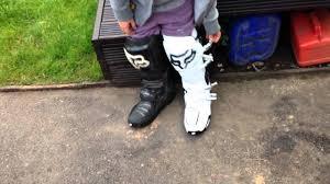 motocross ankle boots update on my fox instinct motocross boots youtube