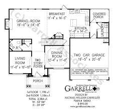 Georgetown Floor Plan Georgetown A House Plan House Plans By Garrell Associates Inc