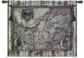 World Map Wall Decor by Large Old World Map Tapestry Carpet Decoration Old World Map