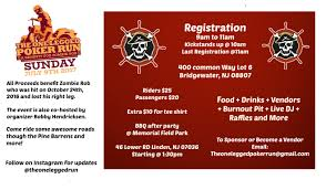 the one legged poker run a benefit for zombie rob tickets sun