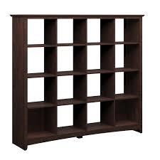 bush furniture buena vista 16 cube bookcase room divider by oj