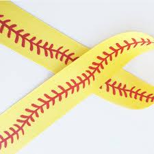 softball ribbon softball stitch ribbon and bows oh my