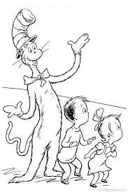 seuss cat hat coloring pages coloring cat 13168