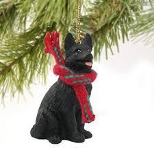 german shepherd miniature ornament black home