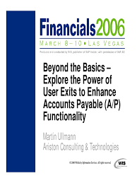 explore the power of user exits to enhance accounts payable