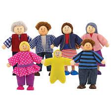 doug wooden doll family set dolls doll houses best