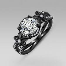 Black Wedding Rings by Vancro Black Flower Engagement Ring This Is Gorgeous And I