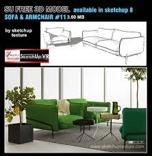 sketchup texture free sketchup 3d model armchairs u0026 sofa 11