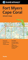 Fort Myers Florida Map by Folded Map Fort Myers Cape Coral Street Map Rand Mcnally Street