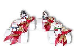 snowman christmas tree decoration on mini chocolate box panache