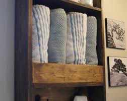 Wood Bathroom Towel Racks Bathroom Shelf Etsy