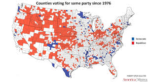 Virginia Map Counties by How The Red And Blue Map Evolved Over The Past Century America