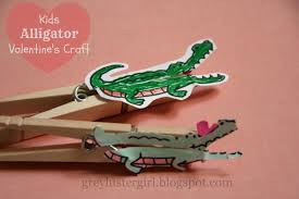 kids alligator valentine u0027s day clothes pin craft