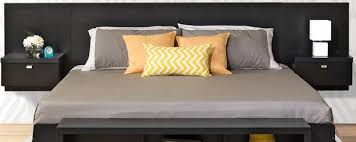 Platform Bed With Nightstands Attached Popular Of Floating Headboard King Best Ideas About Floating
