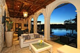 spanish style homes decor charming spanish style patio homes with natural wicker sofa