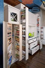 Kitchen Pantry Idea Decorations Creative White Laminated Wood Kitchen Pantry Decor