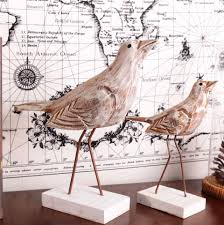 online get cheap home decoration love bird wood decoration