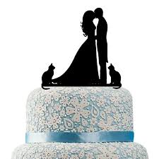 unique wedding cake toppers and groom buythrow unique wedding cake topper with cat silhouette groom
