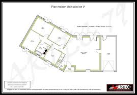 plan de maison en v plain pied 4 chambres plan maison en v plain pied gratuit de newsindo co