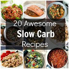 awsome slow carb recipes