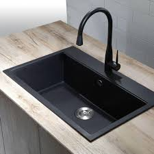 kitchen sinks composite kraus dual mount granite composite 31 in 1 hole single basin